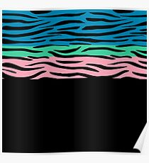 Colorful Animal Stripes Poster