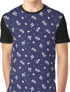 Navy Leafs Garden Graphic T-Shirt