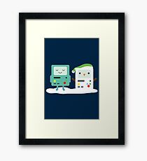 Building SnowMO (Green) Framed Print