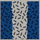 Blue and Silver Leaf Pattern by Greenbaby