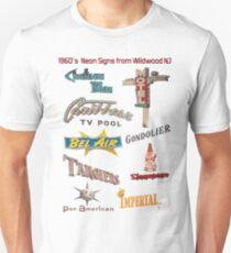 Retro Neon Motel Signs of Wildwood New Jersey 1960's Doo Wop Neon  Unisex T-Shirt