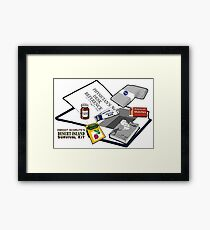 Desert Island Survival Kit Framed Print