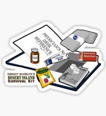 Desert Island Survival Kit Sticker