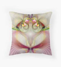 Lady Of The Rainbow Throw Pillow