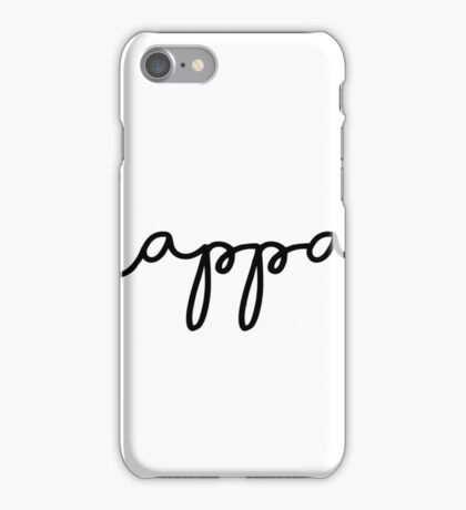 Cute Black Kappa Script iPhone Case/Skin