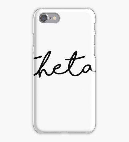 Cute Black Theta Script iPhone Case/Skin