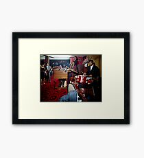Band playing in the Red Carpet Lounge of the Pitts Motor Hotel in the 1950's Framed Print