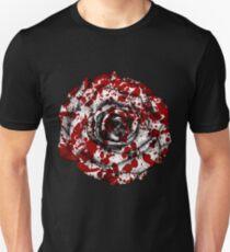 Red Blood Splatter Rose Unisex T-Shirt