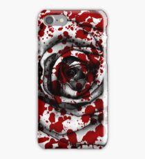 Red Blood Splatter Rose iPhone Case/Skin
