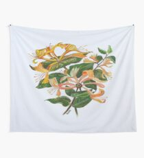 Honeysuckle Bouquet Wall Tapestry