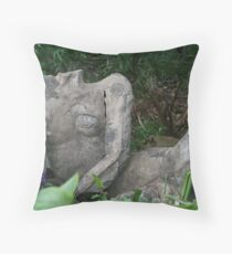 A broken man - there he rests..... Throw Pillow
