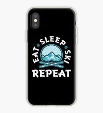 Eat Sleep Ski Repeat  iPhone Case