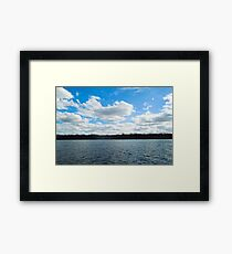 Cloudscape over the Delaware River Framed Print