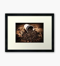 Coffee bar advertisement Framed Print