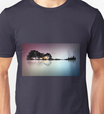 Guitar Forest and City Unisex T-Shirt