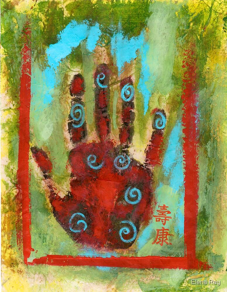 Abstract Chakra Hand by Elena Ray
