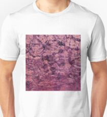 psychedelic grunge painting abstract texture in pink Unisex T-Shirt