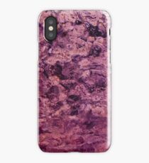 psychedelic grunge painting abstract texture in pink iPhone Case/Skin