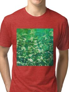 psychedelic painting texture abstract in green Tri-blend T-Shirt