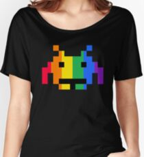 Rainbow Space Invader Women's Relaxed Fit T-Shirt