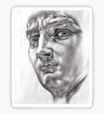 """Study of Michelangelo's """"David"""" Sticker"""