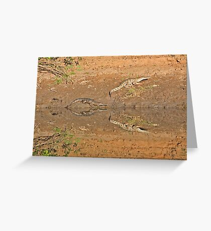 Crocs at Geike Gorge Greeting Card