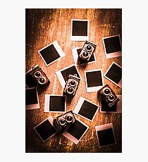 Abstract retro camera background Photographic Print