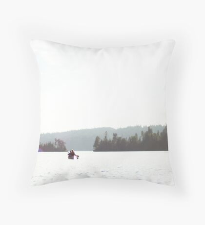 Canoeing the BWCA Throw Pillow