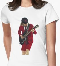 angus young 2 Women's Fitted T-Shirt