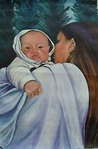 Aboriginal mother and child, Canadian by Eileen Kasprick