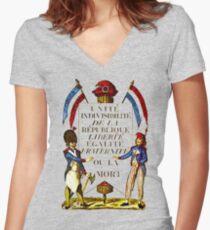 French Revolution Poster Women's Fitted V-Neck T-Shirt