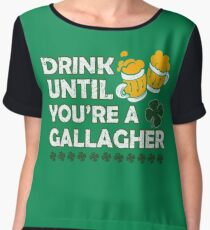 Drink Until Youre a Gallagher Shameless Chiffon Top