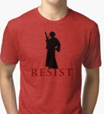 Star Wars Leia: Resist Color Tri-blend T-Shirt