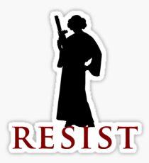 Star Wars Leia: Resist Color Sticker