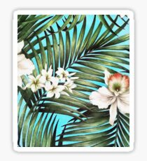 Palm leaves and flowers Sticker