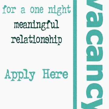 One Night Vacancy - Design 3 by ZalSaadi