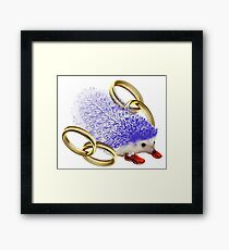 GOTTA GO FAST!! With Rings Version Framed Print