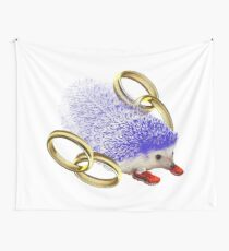 GOTTA GO FAST!! With Rings Version Wall Tapestry