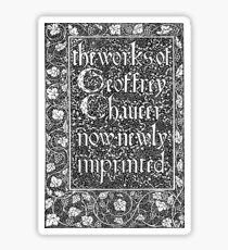 William Morris - Kelmscott Chaucer Cover Sticker