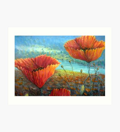 Poppy Field Provence, France Art Print