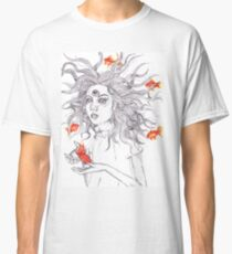 girl with fish - creative, I know Classic T-Shirt