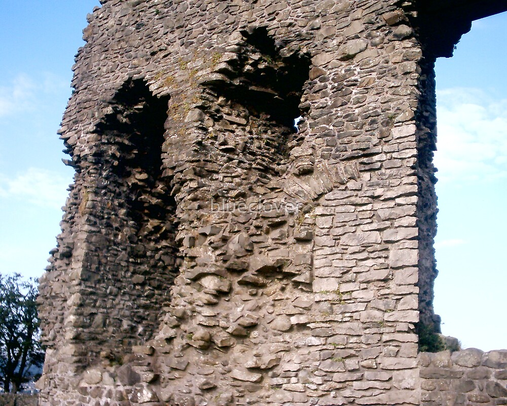Kendal Castle's Ruins, the castle wall by blueclover