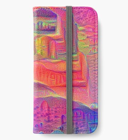 DeepDream Tomato Steelblue 5x5K v4 iPhone Wallet