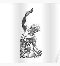 Self-Made Men statue Poster