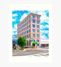 Historic First National Bank Building - Andalusia Alabama Art Print