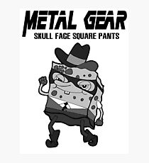 Skull Face Square Pants Photographic Print