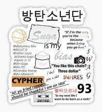 BTS Min Yoongi Sticker