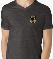 Pocket Pug Men's V-Neck T-Shirt