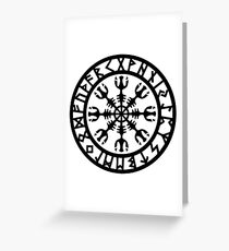 The Helm Of Awe – Viking Symbol For Protection Greeting Card