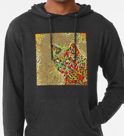 Ninja cat hiding in tropical colors Lightweight Hoodie